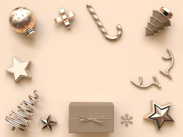 最小限の抽象的なクリスマス背景3 dレンダリング