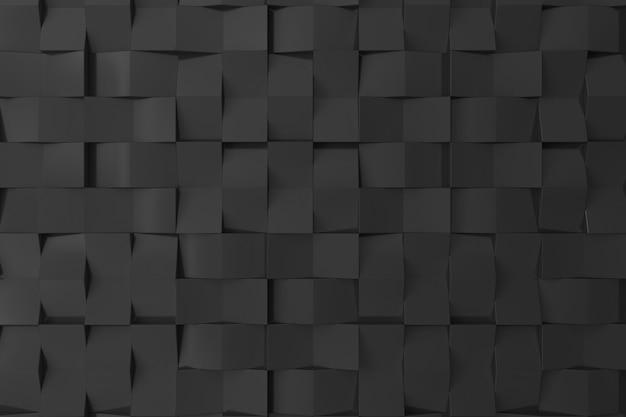 背景の黒の3 d壁