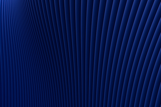3 dレンダリング、抽象的な壁波建築青い豪華な背景