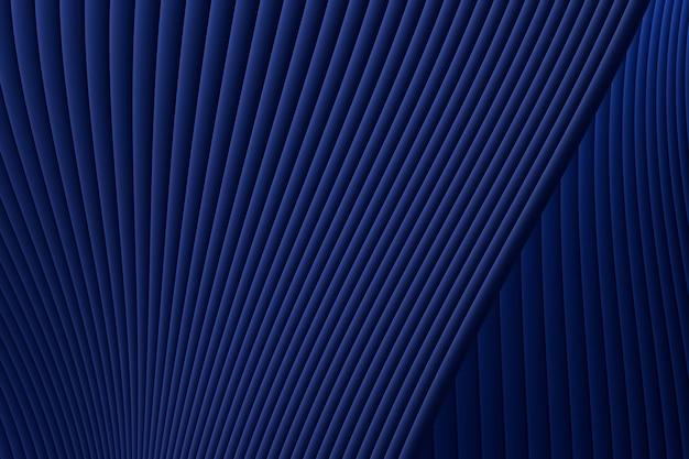 3 dレンダリング、抽象的な壁波建築青い豪華な背景、プレゼンテーション、ポートフォリオ、ウェブサイトの青い豪華な背景