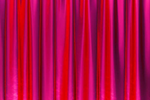 3 dレンダリング、抽象的な赤い背景の豪華な布または液体波またはグランジシルクテクスチャサテンベルベット素材または豪華な背景またはエレガントな壁紙デザイン、赤い背景の波状のひだ