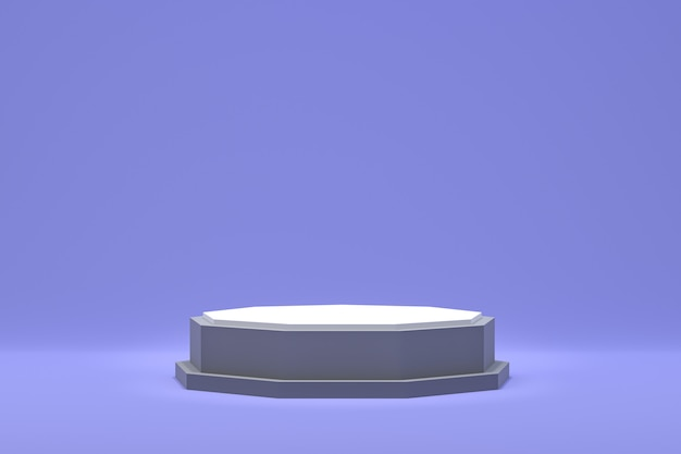 3 dレンダリング、化粧品プレゼンテーション、抽象的な幾何学的形状の表彰台最小限の抽象的な背景
