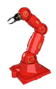 3 dレンダリングロボットアームとオートメーション業界の概念