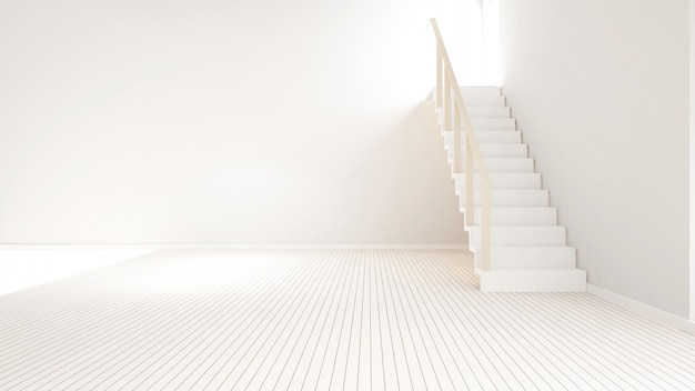 アートワーク -  3 dレンダリングのための空の部屋の階段