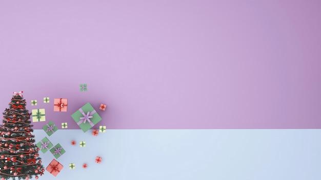 アートワーククリスマス3 dレンダリング