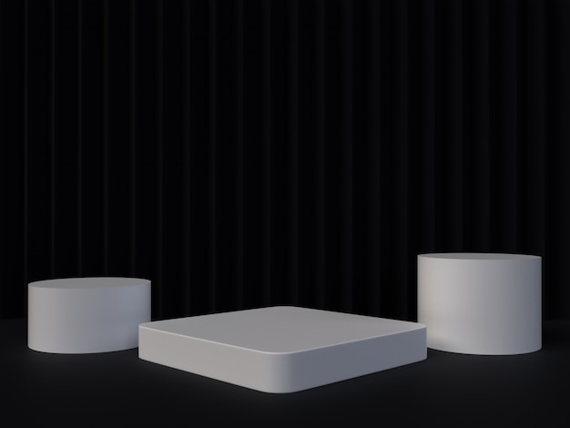 抽象的な3 dレンダリングの幾何学的な背景。空のスペースを持つミニマルなデザイン。