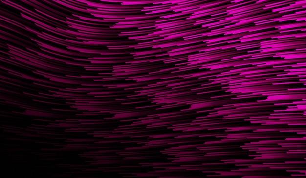抽象的な線波背景を持つ3 dレンダリング。