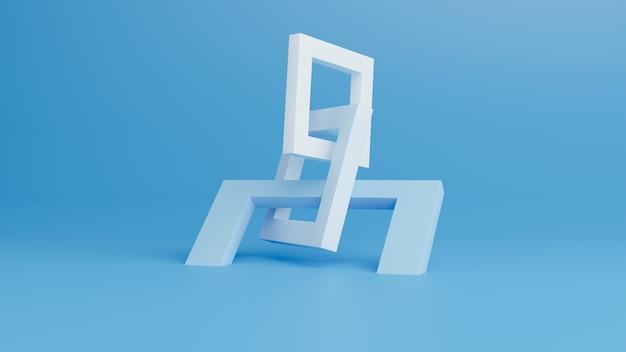 幾何学的形状の抽象的な3 dレンダリング。
