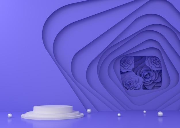 製品プレゼンテーション、3 dレンダリング図のカラフルなトンネル表示背景。