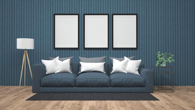 コンクリートの壁にポスターモックアップを表示する3 dレンダリング