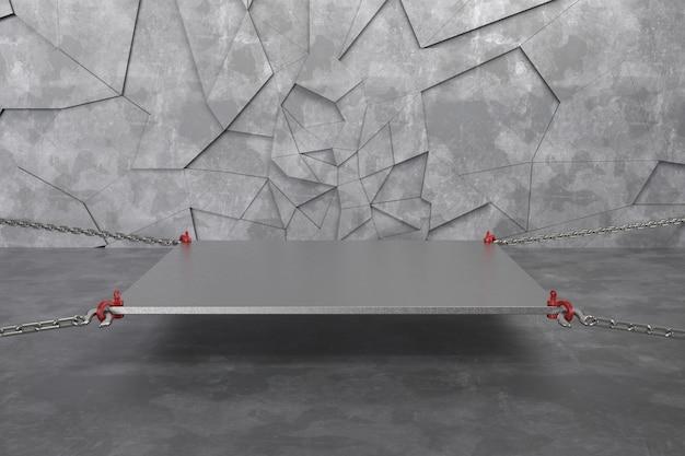3 dレンダリングの抽象的な背景の空の表彰台、台座、シーン