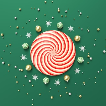 製品の表示のための幾何学的形状を持つ抽象的な3 dコンポジション。冬のクリスマスの背景。