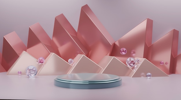 製品表示3 dレンダリングの抽象的なシーン