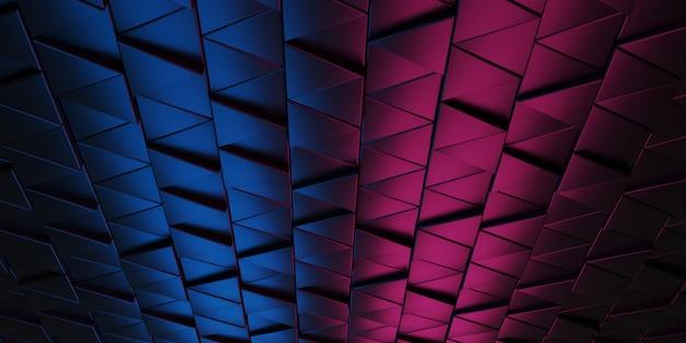 抽象的な三角形の背景パターン3 dレンダリング。
