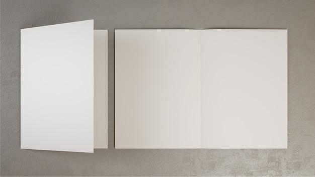 二つ折りパンフレット3 dレンダリング