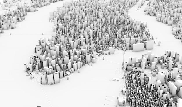 ニューヨークの3 dレンダリング