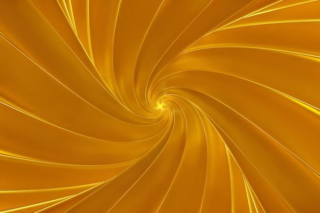 鮮やかなストライプ3 dイラストのスクロールサラウンドから抽象的な黄金背景