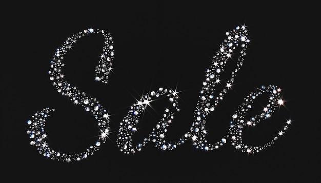華麗なダイヤモンドが並ぶワードセール、3 dイラストレーション