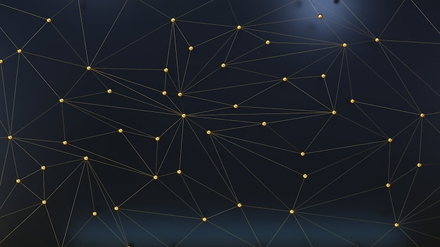 粒子の幾何学的な暗い3 d背景。