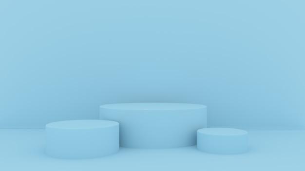 3 dの抽象的な背景をレンダリングします。製品展示用のピンクのプラットフォーム。インテリアの表彰台。