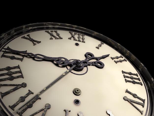 レトロなスタイルの古い時計3 dイラストレーション