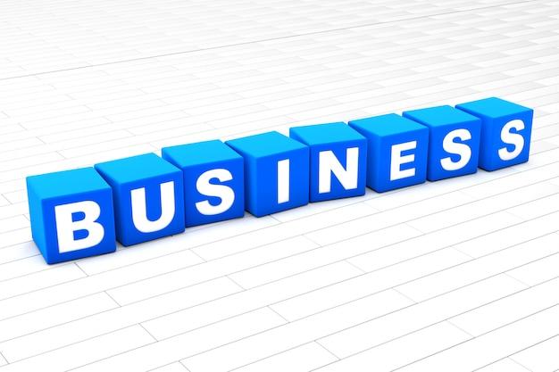 ビジネスという言葉の3 dイラストレーション