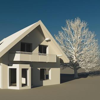家の3 dイラストレーション