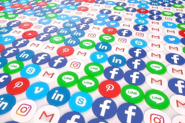 ソーシャルメディアアプリランダムな地面の3 d