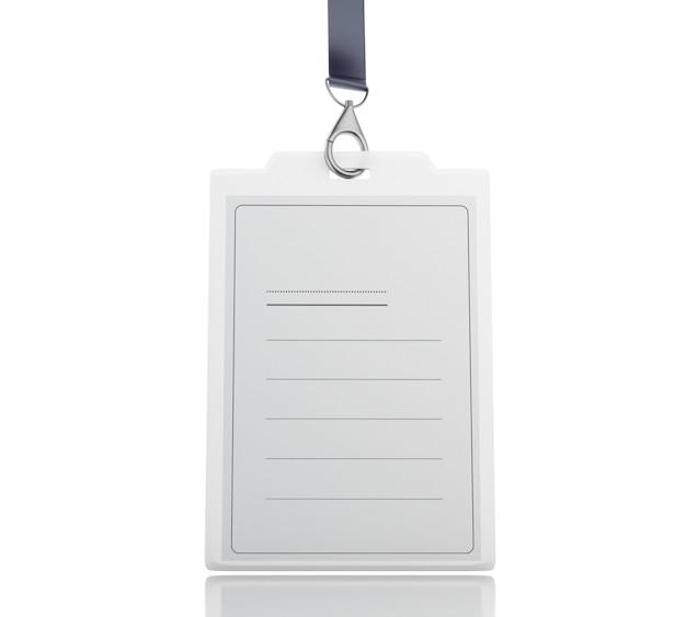 ストラップ付きの3つの白いプラスチックidバッジ