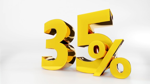 35% golden symbol