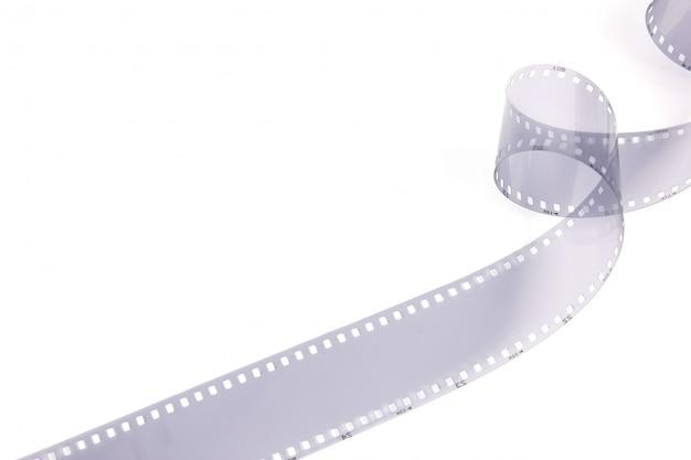 35mm film strip in white background.