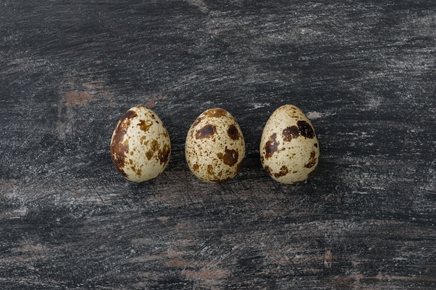 ウズラの卵3個