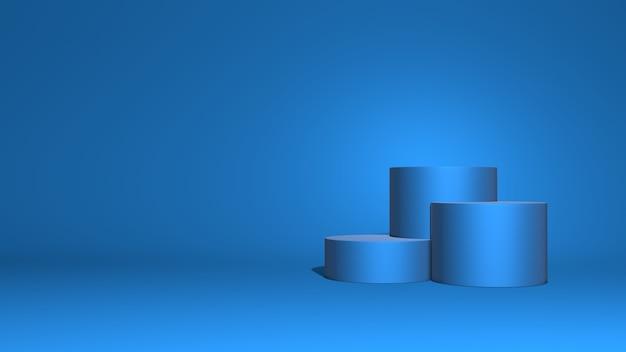 高さの異なる3つのシリンダー