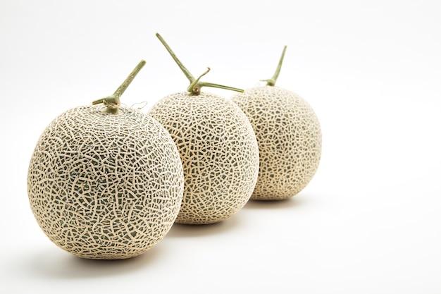 白の3種のメロンメロン