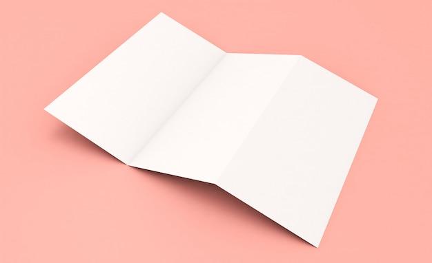 空白の3つ折りモックアップ