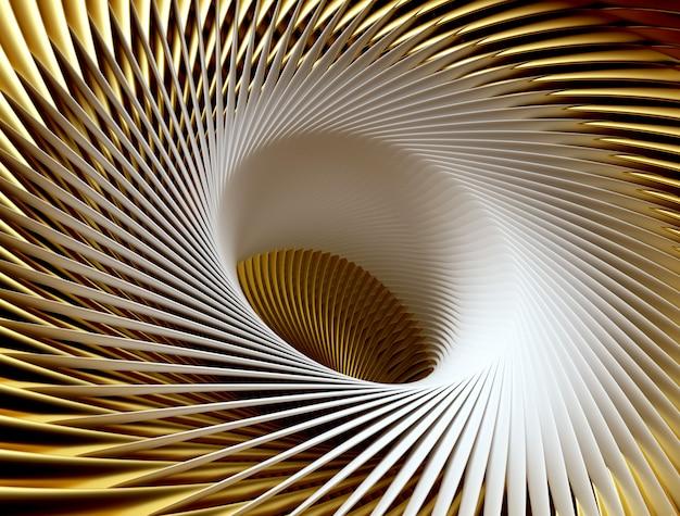 3d визуализации абстрактного искусства сюрреалистического 3d фон с частью турбины реактивного самолета самолета