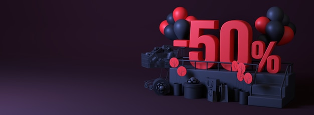 3d 50 off promotional discount