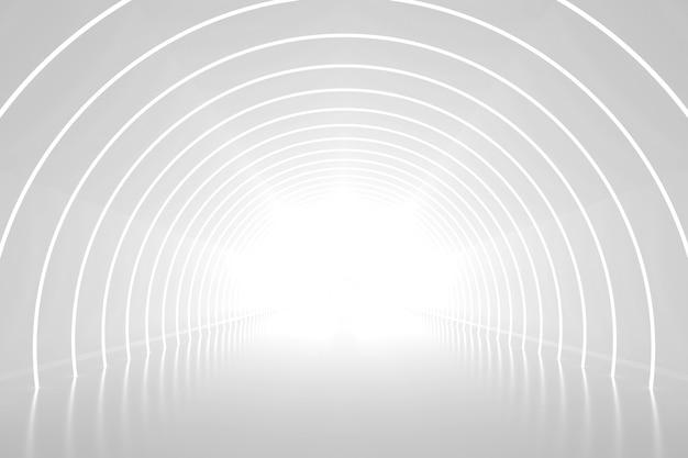 3d 추상 아치 연단 방식 관점 배경