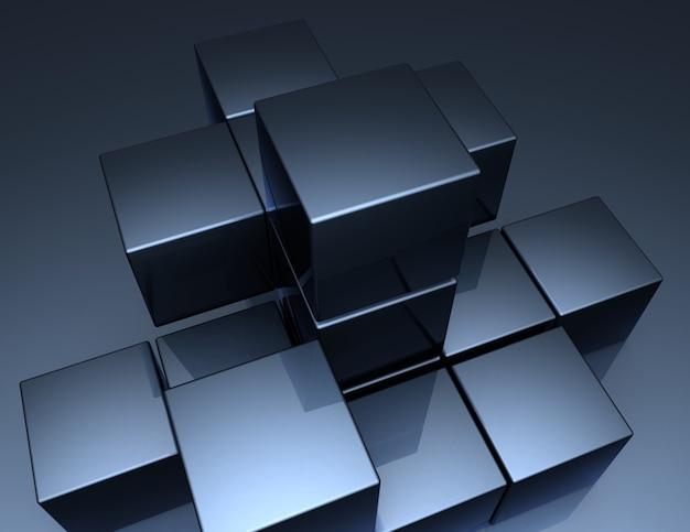 Блоки предпосылки 3d абстрактные. 3d иллюстрация
