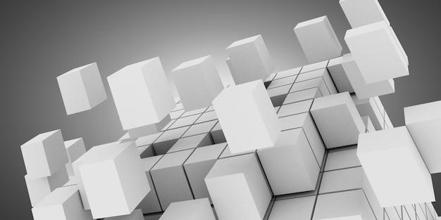 3d кубики абстрактный фон