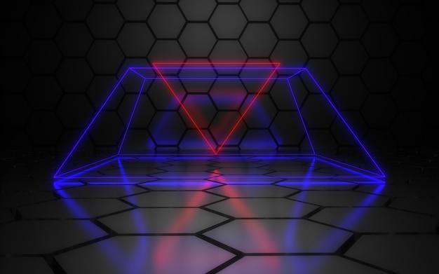 3d абстрактный фон неоновые линии свечения. 3d иллюстрации