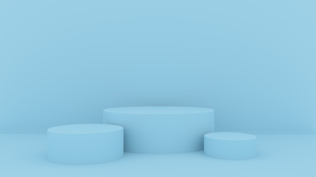 3d abstract background render. pink platform for product display. interior podium place.