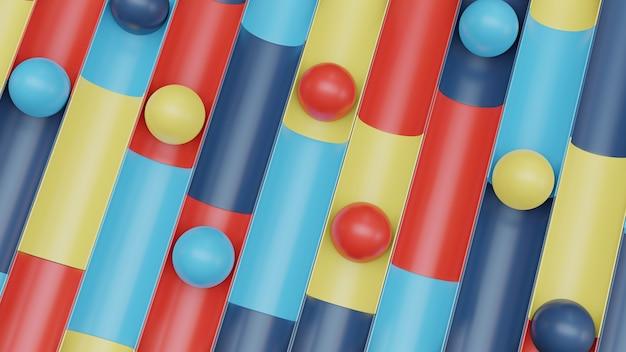 3d абстрактный фон с красочными и сферой