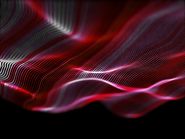 3d abstract background with flowing particles