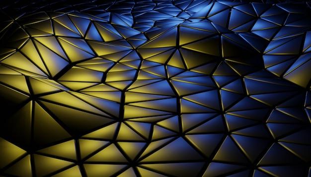 幾何学的なシーンと3d抽象的な背景