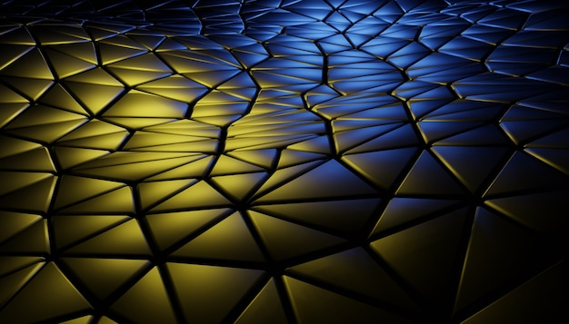 3d abstract background with geometric scene