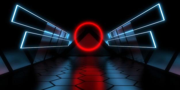 3d абстрактный фон с неоновыми огнями