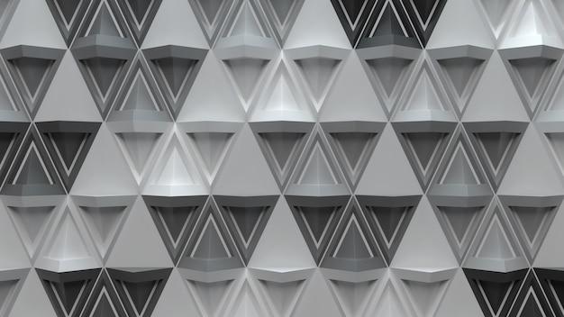 鋭いエッジを持つフォームのようなピラミッドを繰り返す3d抽象的な背景