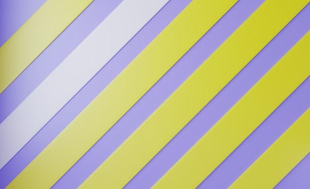 ストライプ、パステルと3d抽象的な背景