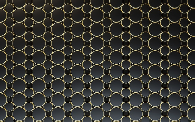 3d抽象的な黒と金の金属テクスチャ背景